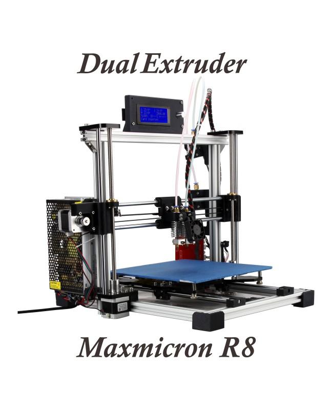 Maxmicron Aluminium Dual Nozzles Dual Extruder Reprap Prusa i3  Kit