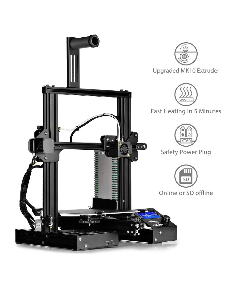 Buy Creality Ender 3 3D Printer Kit, New And Improved