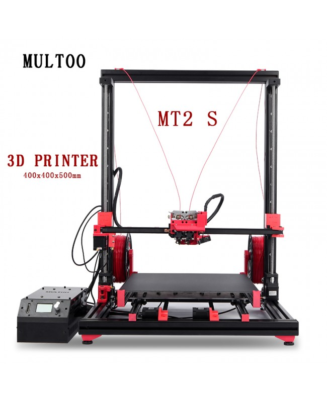 Multoo MT2 Ultra High Precision Large 3D Printer with Single/Dual Extruder Kit