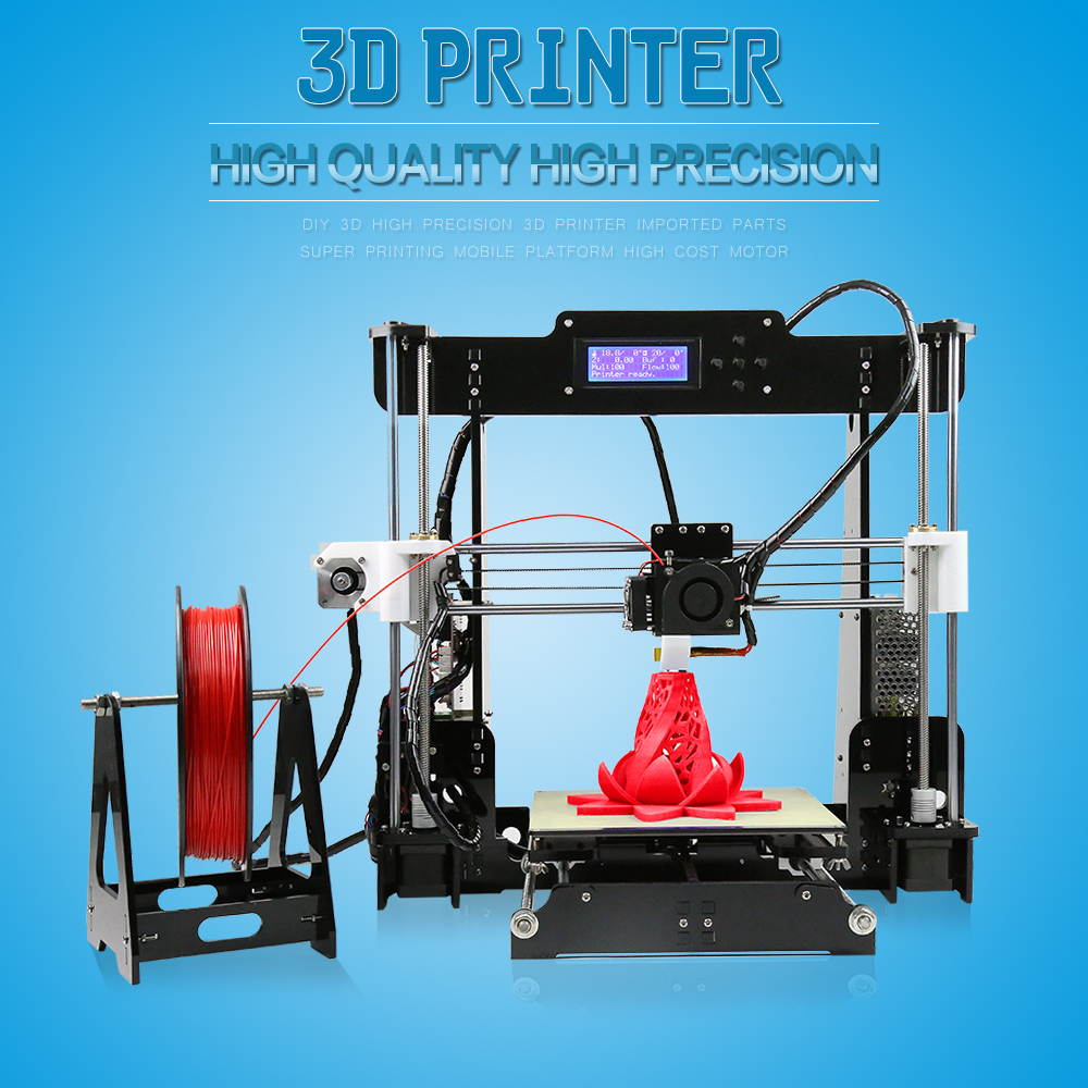 Buy Anet 3D High Precision Quality Reprap Prusa i3 DIY Kit |Ships ...