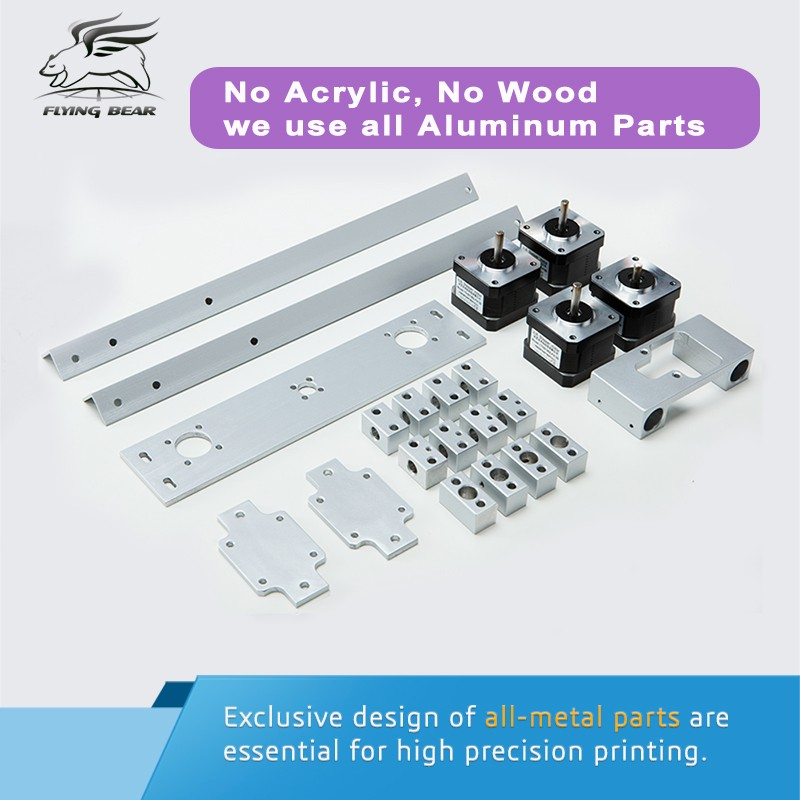 2 flyingbear p902 full metal large build size diy 3d printer kit 3d  at fashall.co
