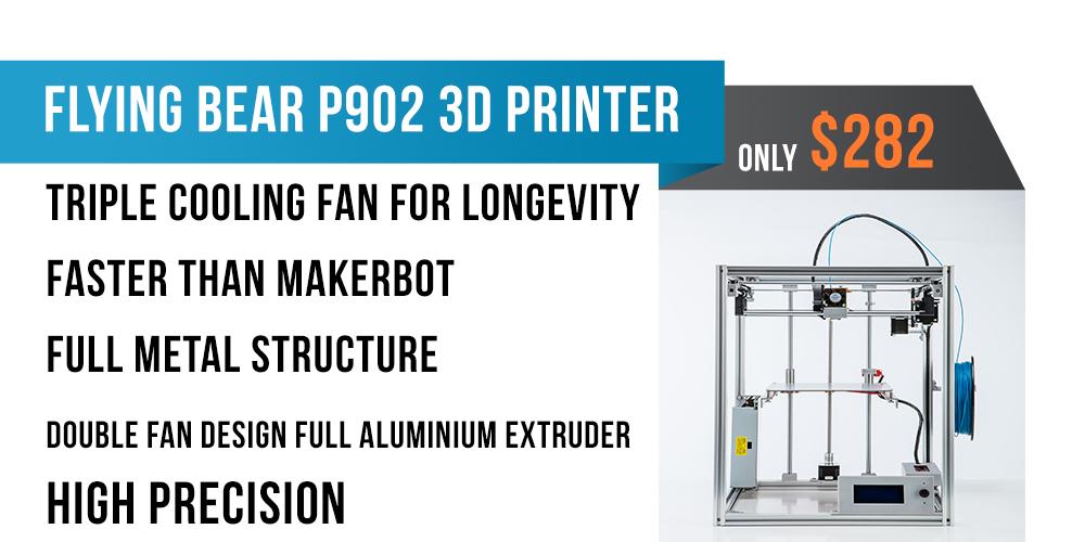 flying bear flyingbear p902 full metal large build size diy 3d printer kit 3d  at fashall.co
