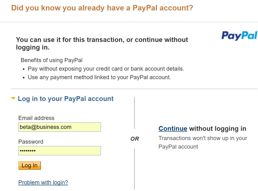 Guest PayPal Checkout