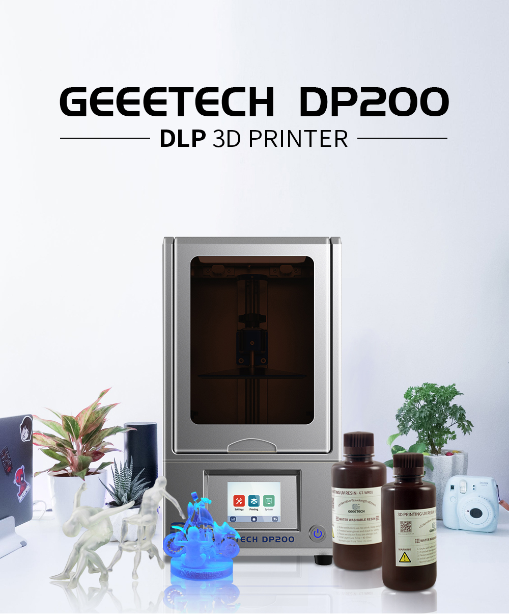Geeetech DP200 DLP LCD UV Resin 3D Printer