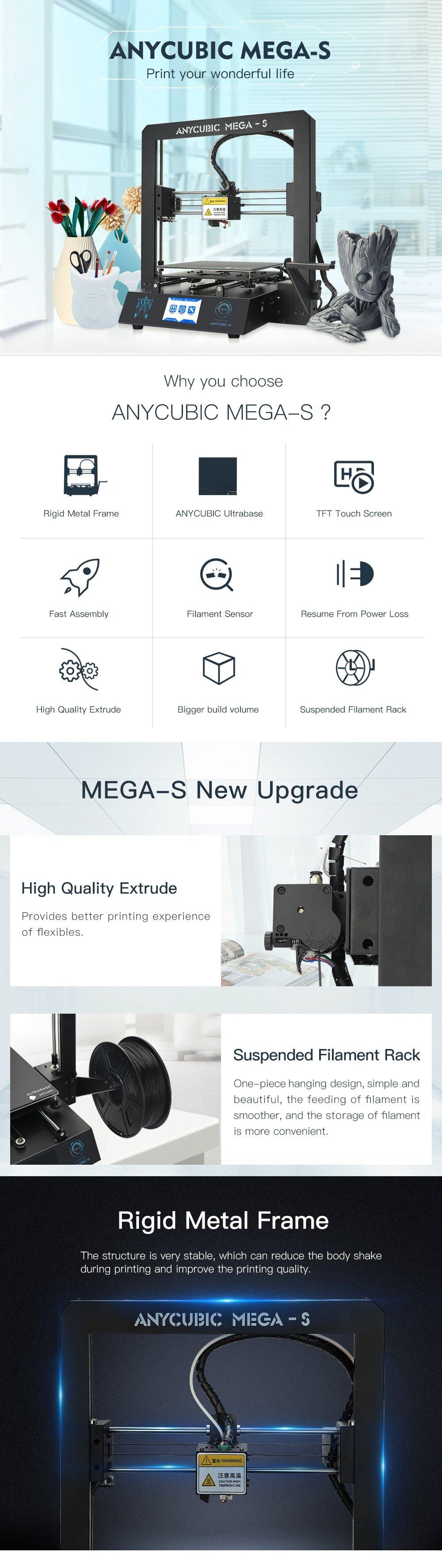 Anycubic i3 Mega-S 3D Printer