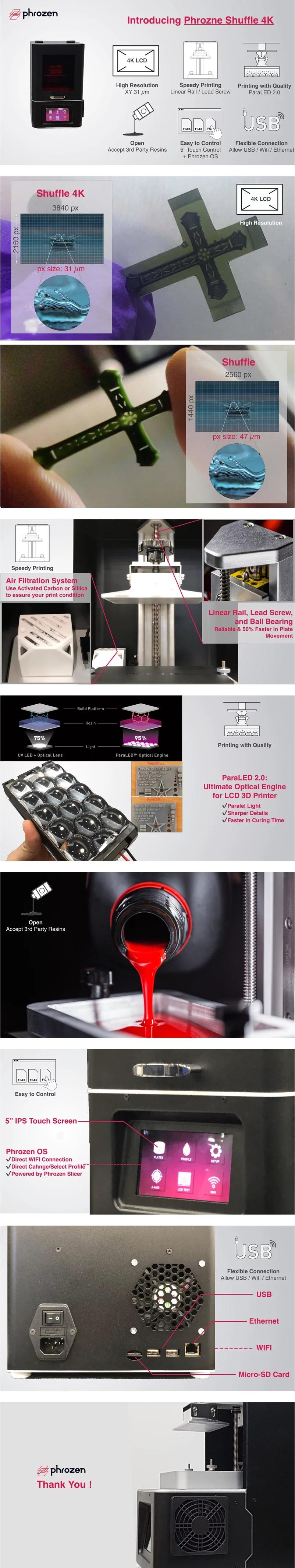 Phrozen Shuffle 4K LCD 3D Printer