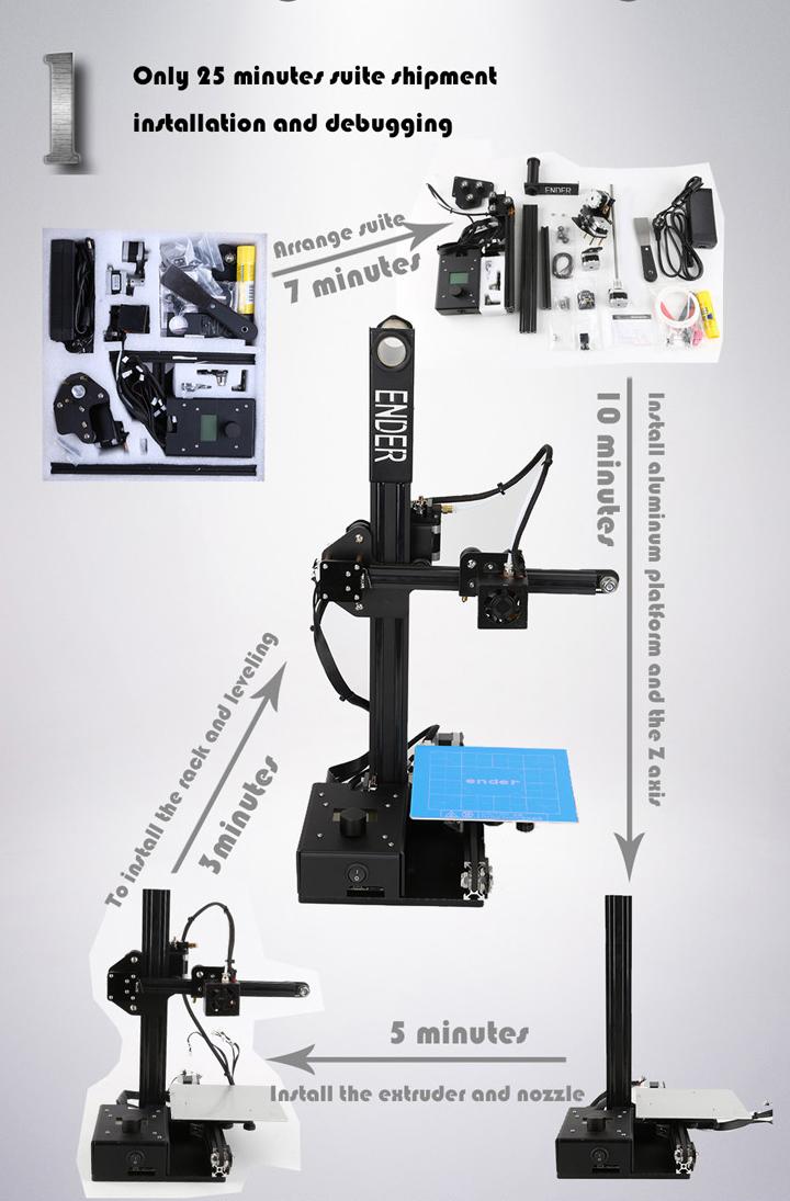 Creality 3D Ender-2 Mini DIY 3D Printer Kit - 3D Printers Bay