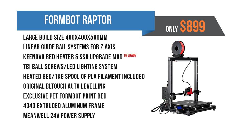 Formbot Raptor Large format 3D Printer