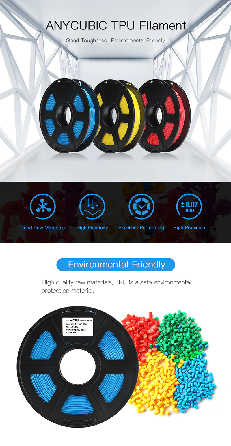 Anycubic TPU Filament 0.5Kg  1.75mm